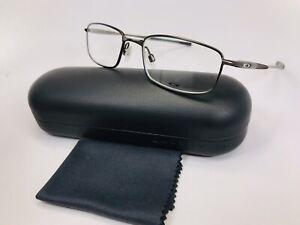 ✴ New Oakley OX3110-0352 Pewter CASING Eyeglasses 52mm with Hard Oakley Case
