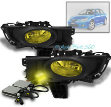07 08 09 MAZDA 3 MAZDA3 SEDAN 4DR BUMPER FOG LIGHTS LAMPS YELLOW W/3K HID+SWITCH