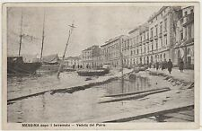 MESSINA DOPO IL TERREMOTO - VEDUTA DEL PORTO 1909