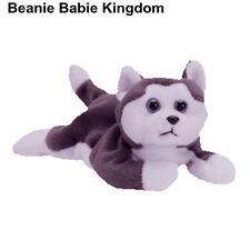 TY BEANIE BABIE * NANOOK * THE GREY & WHITE HUSKY DOG - RARE