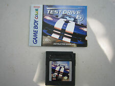1999 TEST DRIVE 6 Game Cartridge for Nintendo Game Boy Color! + manual