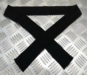 Original Militär Ausgabe Kleid Wolle Krawatte Schwarz SD Kammgarn Uniform Kurz