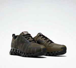 Reebok ZigWild Trail 6 Men's Running Sneakers Shoes Army Green / Grey