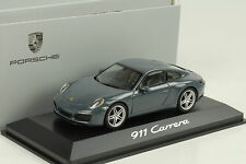 2015 Porsche 911 991 Carrera Coupe graphitblue blau metallic 1:43 Herpa WAP
