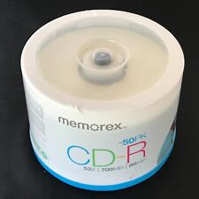 NEW Memorex CD-R 50 Pack 52X 700Mo 80 Min For Music Games Photos Movies Pics REC