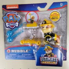 NEW RUBBLE Paw Patrol FIRE ULTIMATE RESCUE action Pup w launching water cannon