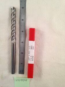 "1 NEW 3/8"" DIAMETER CARBIDE END MILL 4 FLUTE. BALL. 6"" OAL. USA.  3"" LOC. (M974)"