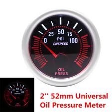 2'' 52mm Universal Car LED Turbo Oil Pressure Gauge Meter Bar Smoke Tint Lens