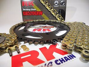 08-16 Honda CBR1000RR Fireblade RK GXW Gold 520 Chain & SuperSprox Sprockets Kit
