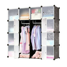 DIY Regalsystem Kleiderschrank Garderobe Regal Steckregal Standregal mit Türen