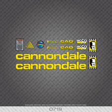 0719 CANNONDALE F500 Bicicletta Adesivi-Decalcomanie-Transfers-Giallo