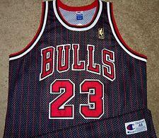 VTG AUTHENTIC MICHAEL JORDAN CHICAGO BULLS NBA @50 GOLD LOGO CHAMPION JERSEY 48
