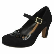 Patternless Mary Janes Suede Formal Heels for Women