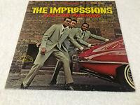 LP THE IMPRESSIONS Keep On Pushing 1964 ABCS-493 ABC-Paramount