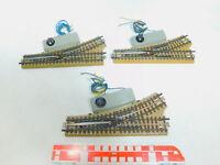 BY630-1# 3x Märklin H0/00/AC E-Weiche für 3600/800 Mittelleiter geprüft, M-Gleis