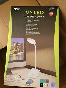 Ivy LED USB Desk Lamp Purple nib