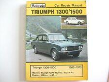 Triumph 1300/1500 Autodata Repair Manual 1965 - 1973