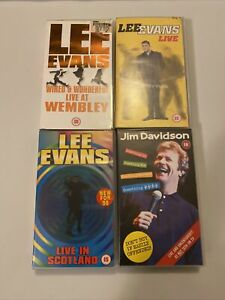 Bundle Of 4 Comedy VHS Tapes Lee Evans Jim Davidson