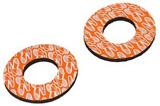 Renthal Mango DONUTS PARA MOTOCROSS ENDURO SUPERMOTO naranja/blanco