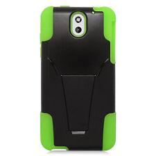 For HTC Desire 610 Advanced HYBRID KICKSTAND Rubber Case Cover + Screen Guard