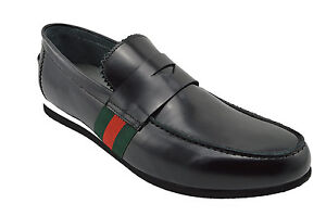$230 MASQLEN Black Leather PENNY Loafers Casual Dress Men Shoes NEW COLLECTION