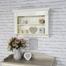 Ornate cream wall shelving unit vintage French 2 shelf bedroom bathroom hallway