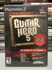 Guitar Hero 5 (PlayStation 2, 2009) Brand New and Sealed, USA SELLER
