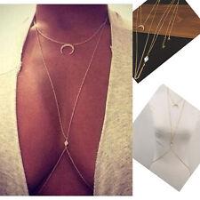 Women  Chain Jewelry Bikini Waist Gold Belly Beach Bralette Slave Necklace