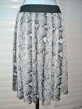 White House Black Market Chiffon Smocked Snake Print Boot Skirt Sz 6 NWT