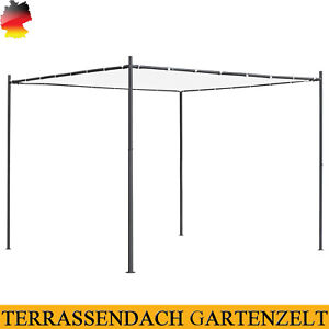 Gartenpavillon Pavillon Pergola Terrassendach Gartenzelt mit Flachdach 3/4x3/4 m
