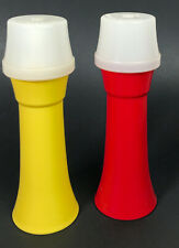 Vintage Tupperware Ketchup and Mustard Dispensers with Lids