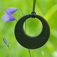 """Shungite Pendant """"Day and Night"""" emf and geopathic stress protection Tolvu"""