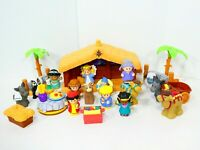 Fisher Price Little People Nativity Set 2002 Deluxe Christmas Story Bonus Pieces
