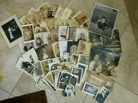 Large Lot About 100+ Antique CDV's Cabinet Photos RPPC Children Ladies Gents