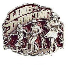 Buckle Fibbia Cintura Fibbia Cintura Line Dance Country Western Rosso