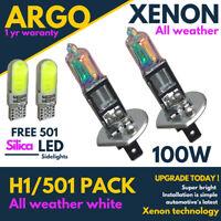 H1 Xenon All Weather White 100w 448 501 Led Side light Headlight Fog Bulbs Hid