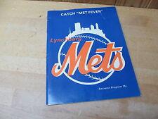 Lynchburg, VA Mets (Now Hillcats) Baseball Program Souvenir 1976