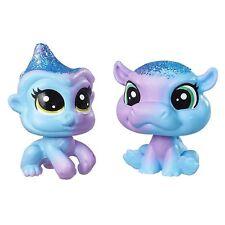 Littlest Pet Shop BFF Rainbow Glitter Baby #9 Indiglo Apely #10 Cerulean Sparkle