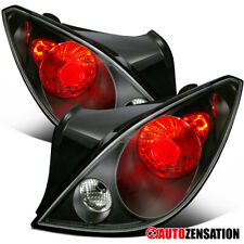 For 2006-2009 Pontiac G6 2Dr Black Clear Tail Lights Brake Reverse Lamps Pair