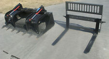 """Bobcat Skid Steer Attachment 72"""" Rock Bucket Grapple with Teeth - Ship for $199"""