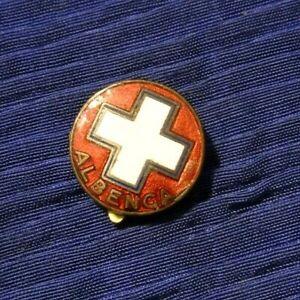 """PIN SPILLA """" PUBBLICA ASSISTENZA - ALBENGA """" 1930/40ca CROCE BIANCA"""