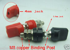 2 pcs M8*60mm Binding Posts 60A Copper for Power terminal 4mm Banana plug Probes