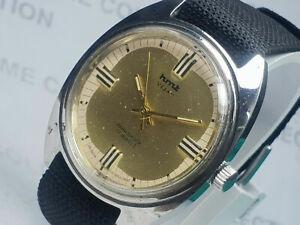 Vintage Hmt Vijay Handwinding Movement Mens Analog Dial Wrist Watch WU108 F