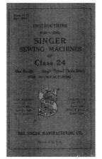 Singer 24 Sewing Machine/Embroidery/Serger Owners Manual
