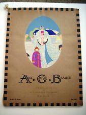 "Stunning Art Deco June 1922 Parisian Fashion Magazine Titled ""Art Cout Beaute"" *"