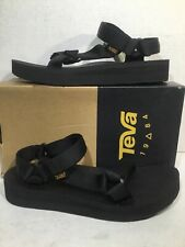 Teva Womens Size 10 Midform Universal Black Casual Sport Sandals ZA-1159