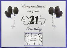 21th Birthday Silver Metal Cover Guest Book With Pen And Photo Window