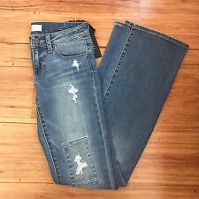 GREYWIRE Patched Waverly Sexy Flare Jeans Size 25, NWT