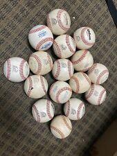 Lot of (16) Used Leather Baseballs Wilson 1075