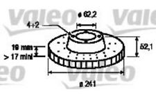 VALEO Juego de 2 discos freno Antes 241mm ventilado HYUNDAI ACCENT PONY 197173
